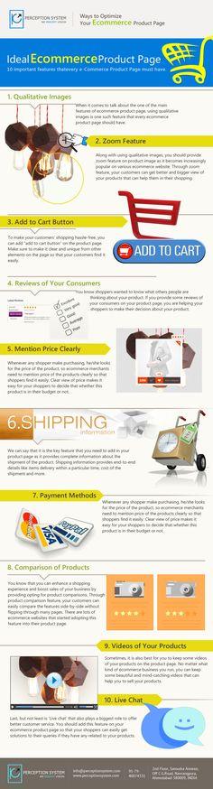 Comment optimiser sa page produit #ecommerce #infographie