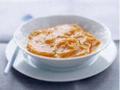 Mashed sweet potato clementine juice