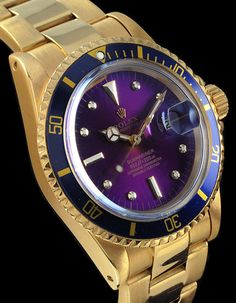 #Vintage #Rolex #Submariner 18K Gold with tropical dial