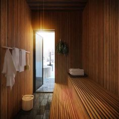 Japanese Home Design, Japanese House, Chalet Design, House Design, Timber Cabin, Sauna Design, Sauna Room, Interior Architecture, Interior Design