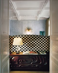 A Home Designed by Studio KO - Behind the bed, a 1960s commode by John and Ed Lane. François Halard