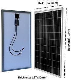 Windy Nation 100 Watt Solar Panel Complete Off-Grid RV Boat Kit with LCD PWM Charge Controller + Solar Cable + MC4 Connectors + Mounting Brackets  The Windy Nation 100 Watt Complete Solar Charging Kit comes with everything you need to start producing free, clean power from the sun! Perfect for RV's, boats, cabins and back-up power! WindyNation's 100 Watt Solar Kit includes EVERYTHING you need to get started: (1pc) 100 Watt Solar Panel, User Adjustable LCD 30-Amp Solar Charge Controll..