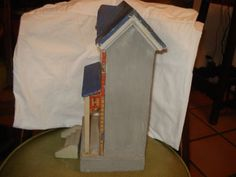 ANTIQUE-BLUE-ROOF-GERMAN-DOLLHOUSE-circa-1885
