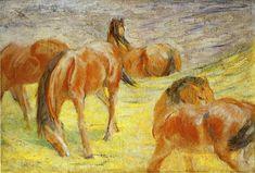 Grazing Horses 1910 Franz Mark