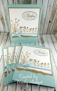 Wetlands+Thinking+of+You+Card+Set. Masculine Birthday Cards, Birthday Cards For Men, Masculine Cards, Stampin Up, Bird Cards, Stamping Up Cards, Get Well Cards, Sympathy Cards, Creative Cards