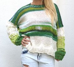 Oversized Cable Sweater
