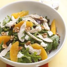 Orange-Walnut Salad with Chicken Recipe