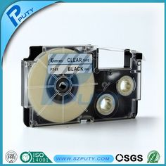 compatible Black on Clear XR-6X 6mm label tapes for EZ label printers