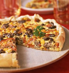 Mexican quiche - Ôdélices cooking recipes - Mexican quiche – Ôdélices: Easy and original cooking recipes! Mexican Food Recipes, Vegan Recipes, Snack Recipes, Cooking Recipes, Drink Recipes, Quiches, Comida Latina, Tasty, Yummy Food