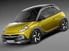 3D 2015 Opel Adam - 3D Model