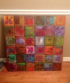 """Abstract art. Sarah Barbian. """"Jenny's World"""""""