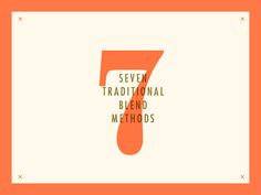 ∆ Traditional SEVEN Coffee ∆  Developing a style that both compliments the range…
