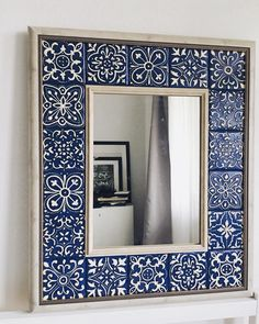 Indian Home Interior Diy Garden Decor, Diy Home Decor, Room Decor, Tile Crafts, Mosaic Diy, Mirror Mosaic, Wall Mirror, Interior Decorating, Interior Design