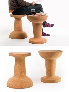 PUSHPIN CORK Stool or Side Table | moddea