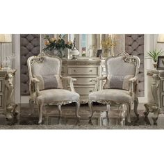 Would like to purchase Curcio Upholstered Dining Chair Acme Furniture, Online Furniture, Classic Furniture, Baroque Furniture, Furniture Chairs, Italian Furniture, Cheap Furniture, Furniture Design, Wingback Chair