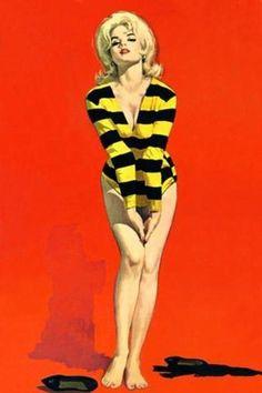 Robert Maguire, Hell's Angels by Hank Janson. Pulp Fiction Art, Pulp Art, Pin Up Girl Vintage, Vintage Art, Robert Mcginnis, Arte Pop, Art Graphique, Poses, Pin Up Art