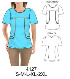 Delantales Spa Uniform, Scrubs Uniform, Scrubs Pattern, Top Pattern, Corporate Uniforms, Teacher Style, Scrub Tops, Couture, Sewing Patterns