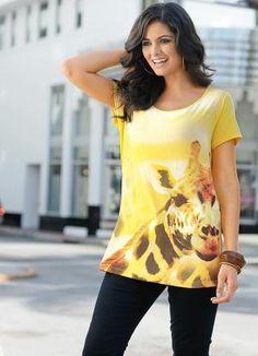 Camiseta com Estampa Amarelo - Bonprix