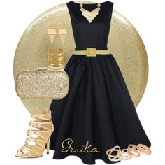 Black and Gold outfit by gerika-k on Polyvore featuring Ivanka Trump, Anya Hindmarch, With Love From CA, Hervé Van Der Straeten, Witchery, MANGO, Au Jour Le Jour, NARS Cosmetics, gold and blackandgold