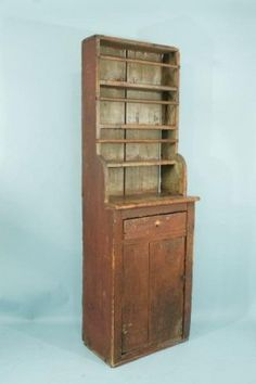 Lot: 146: 1EARLY 19th CENTURY AMERICAN CUPBOARD, Lot Number: 0146, Starting Bid: $800, Auctioneer: Lewis & Maese Antiques, Auction: Lewis & Maese Fine Art & Antique Auction, Date: October 26th, 2011 EDT