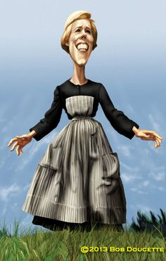 julie,andrrews,caricature
