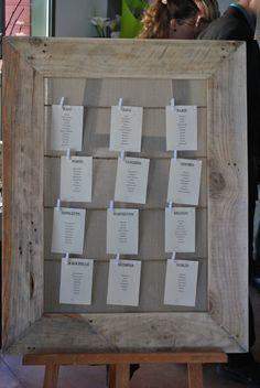 Plan de table fabriqué avec du bois de palettes