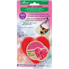 CLOVER-Quick Yo Yo Maker: Heart. A quick and easy way to make nicely shaped…