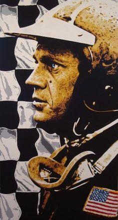 Steve MC Queen Racing - poster