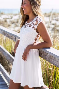Pretty As A Picture White Lace Dress