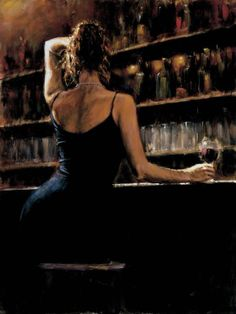 Girl alone at the bar