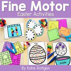 These 10 Easter fine motor skills activities are perfect for preschoolers, kindergarten, or homeschool students. The activities can be performed multiple ways, as the activities will always help develop the budding fine motor skills of prek or kinder students. Some of the activities are printables, while others require little prep work like laminating. Perfect for small groups, morning tubs, centers, or any time you want your students to practice their fine motor skills. #finemotorskills #easter