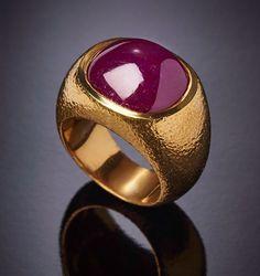 Ring set with natural burmese ruby DAVID WEBB
