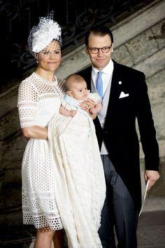 At the baptism of Prince Oscar of Sweden
