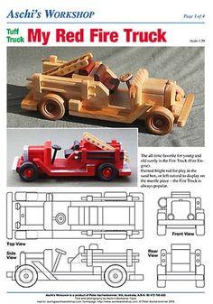 Wooden toys plans Gluten Free Recipes q bar gluten free Wooden Toy Trucks, Wooden Car, Making Wooden Toys, Wood Toys Plans, How To Make Toys, Metal Toys, Wooden Crafts, Diy Toys, Fire Trucks