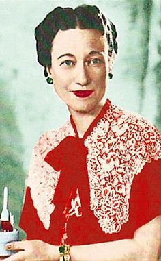 Fit for a queen: The Duchess pictured wearing a scarlet chiffon nightdress, capelet and full-length cape from the late Forties or early Fifties. The outfit is estimated to sell for up to £1,000 at auction