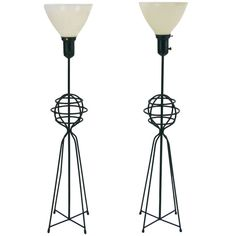 Pair of Large Table Lamps by Alvin Lustig   From a unique collection of antique and modern table lamps at http://www.1stdibs.com/furniture/lighting/table-lamps/