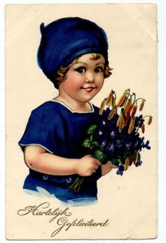 T1981 Young Girl in Blue Meissner Buch 3051 Postcard | eBay