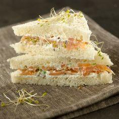 Club-sandwichs au saumon et à la faisselle , recette , recipe, food