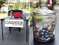 "Yard Sale Tips -- run an extension cord outside, have grocery bags ready, keep expensive items on ""cashier's table,"" etc. (via Seventh House on the Left)"