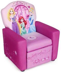 "Disney Princess Recliner - Delta - Toys ""R"" Us Disney Furniture, Girls Furniture, Cute Furniture, Bed Furniture, Furniture Removal, Disney Princess Bedroom, Princess Toys, Little Girl Toys, Toys For Girls"