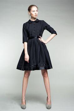 Mad Men-Kleid 50er Jahre Kleid 1950 Kleid schwarzen von mrspomeranz