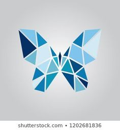 Vetor stock de Initials Hw Wh Alphabet W H (livre de direitos) 1169111428 Illustration of origami blue butterfly.Abstract geometrical background with blue triangles.Vector image of an butterfly design Doodle Art Drawing, Cool Art Drawings, Easy Drawings, Geometric Shapes Art, Geometric Drawing, Geometric Painting, Architecture Origami, Polygon Art, Geometry Art