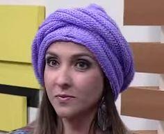 Receita de Tricô: Turbante em tricô Vitoria Quintal