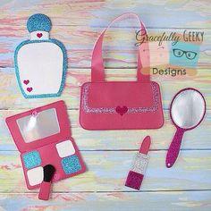 Vanity Set Embroidery Design - 4x4 Hoop or Larger