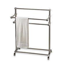 MODERN CHROME CURVED FLOOR 3 TIER FREE STANDING 3 TIER 3 BAR TOWEL STAND SHELF