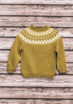 Pattern is available in Norwegian as part of the Tema 51 printed pamphlet collection. Sweater Knitting Patterns, Knit Patterns, Nordic Sweater, Men Sweater, Knitting For Kids, Baby Knitting, Diy Knitting Projects, Knitwear, Pullover