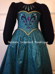 Frozen Inspired Queen Elsa Coronation Dress by Theresafeller, $95.00