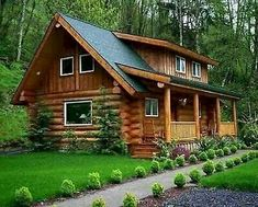 """All models can be modified to fit your needs, usually at no cost to you. The 6""""high by 8""""wide, heart of the tree logs, provides you high """"R Value"""" insulation. Hoping to move to the country and live the Log Cabin Lifestyle?. Tiny Log Cabins, Small Log Cabin, Log Cabin Kits, Log Cabin Homes, Cabins And Cottages, Small Log Homes, Log Cabin Floor Plans, How To Build A Log Cabin, Free House Plans"""