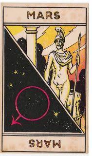 Cartas do Destino: Destino e Tarô: Tarot Astrologique - A Carta Marte...