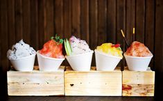 Trend alert: boozy snow cone station for summer Texas weddings